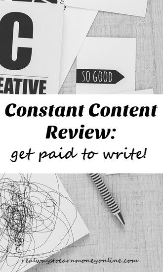 Constant Content review - a site you can get paid to sell articles on. Earn up to as much as $100 for your content when it sells.