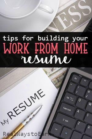 Here are some work from home resume tips to land you a job in 2019