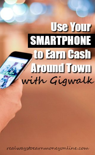Gigwalk review - get paid to go around your town and do little odd job and short tasks. Payments are made via Paypal.