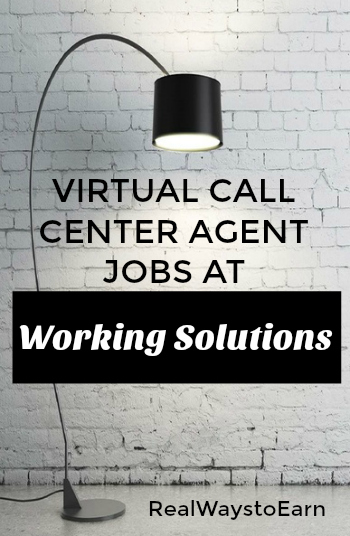 Work at home call center jobs at Working Solutions - earn $8 to $20 an hour taking calls from home.