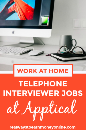 Work from home telephone interviewer jobs are sometimes available at Apptical. Full review with more info.