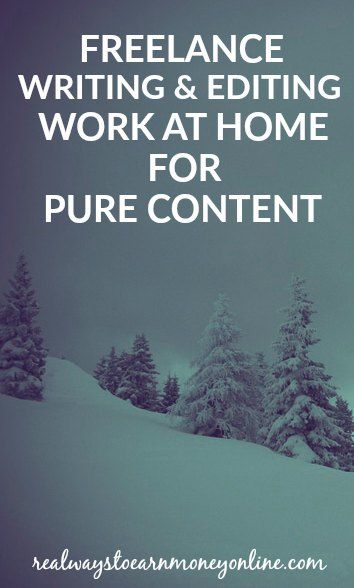 Make money freelance writing or editing for Pure Content.