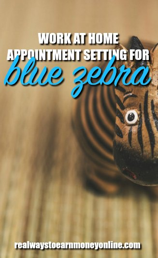 Work at home appointment setting jobs with Blue Zebra.