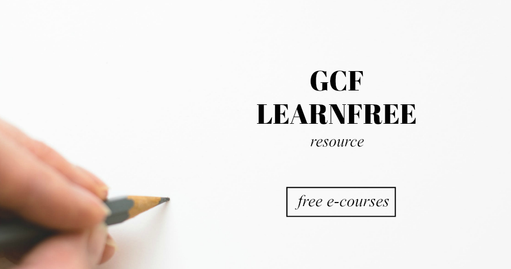GCF Learn Free offers over 100 free tutorials ... - Pinterest