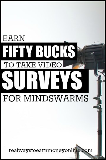 Want to get paid $50 for taking surveys? MindSwarms pays $50 for their video surveys if you're accepted.