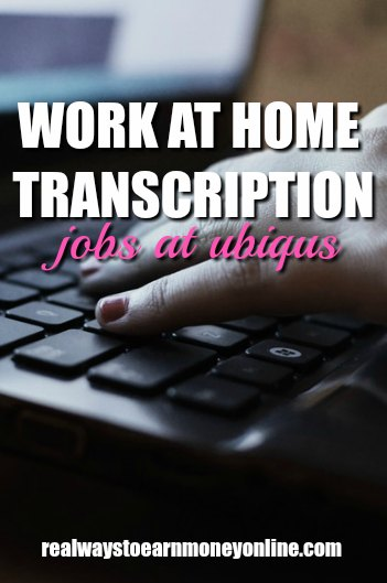 Work at home transcription jobs at Ubiqus.