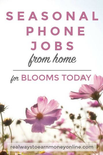 Want to work at home for a popular flower company? Blooms Today is occasionally hiring.