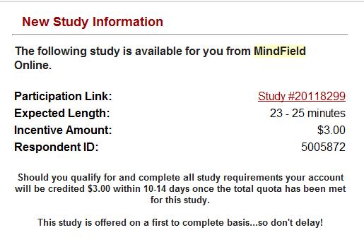 Mindfield Online Sample