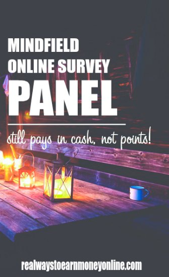The Mindfield online survey panel. Still pays in cash, no points!