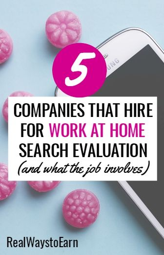 It's possible to work at home for five different legit companies as a search engine evaluator. The pay is usually good and the work is flexible. This post explains more about what the job involves and which companies normally have openings.