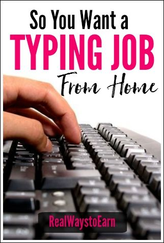 So you want a typing job from home. It seems everyone does because it sounds easy. After all, if you can type, you can do the work, right? Here are some tips and resources to help you find a typing job.