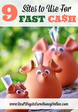 Do you need to earn fast cash? If so, I'd highly recommend using some of the sites in this post for fast cash. If you use these regularly, they will come in handy when you need gas money, milk money, etc. Most of them pay within 24 to 72 hours after you request your money.