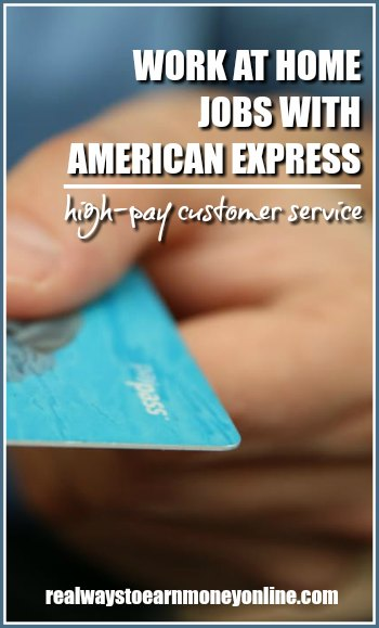 American Express work at home jobs.