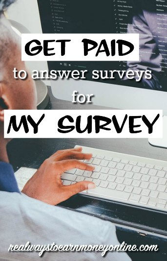 Get paid to answer surveys online for My Survey. They have options for Paypal, Amazon, and gift cards to popular retailers.