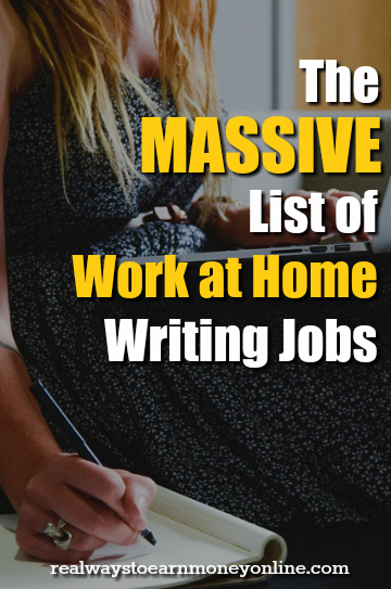 Writer work from home