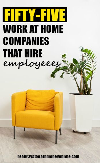 A list of 55 companies that hire for work at home employee jobs.