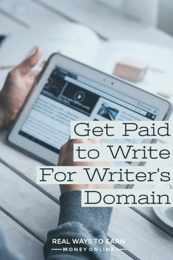 How to get paid to write for Writer's Domain.