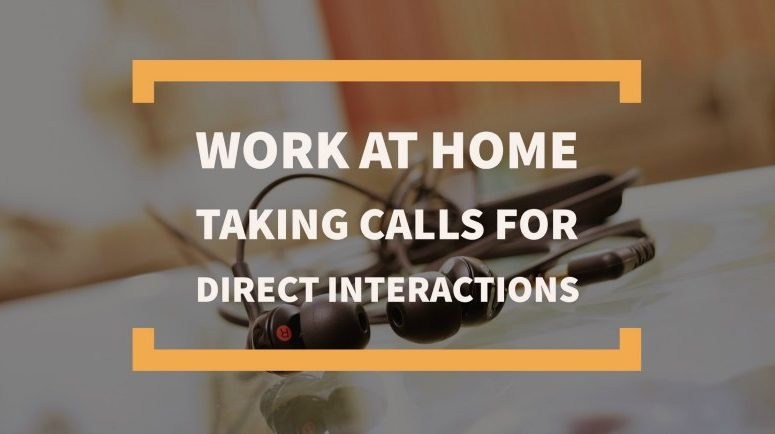 Make Money Taking Calls From Home for Direct Interactions