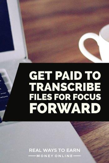 An overview of Focus Forward transcription jobs. Flexible schedule!