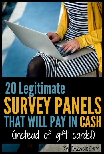 Do you want to take online surveys for money? Would you rather receive cash instead of gift cards for taking paid surveys online? If so, this list will help. There are 20 legitimate panels here, ALL of which will pay you in either Paypal cash or a mailed check for the time you spend answering surveys.