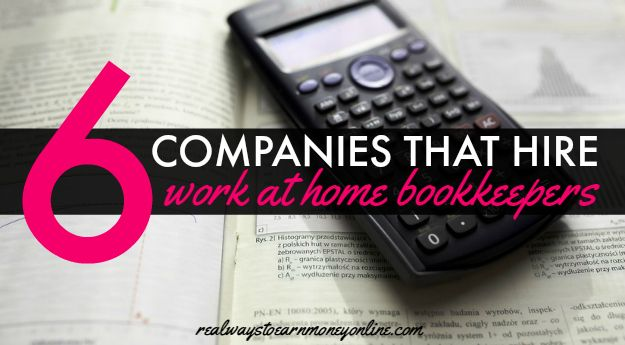 Work at Home Jobs For Accountants & Bookkeepers