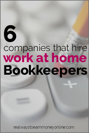 This is a list of legitimate companies that regularly hire people with bookkeeping and accounting experience to work from home.