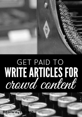 How to get paid to write articles from home for Crowd Content.