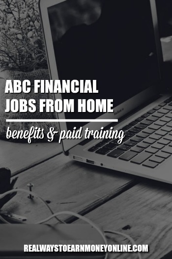 ABC Financial careers from home may come with paid training and benefits. More info in our overview.