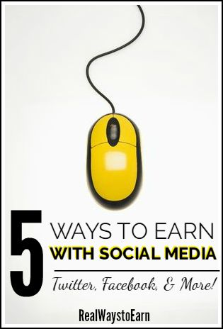 Here are some ways to earn money for tweeting and using other social media.