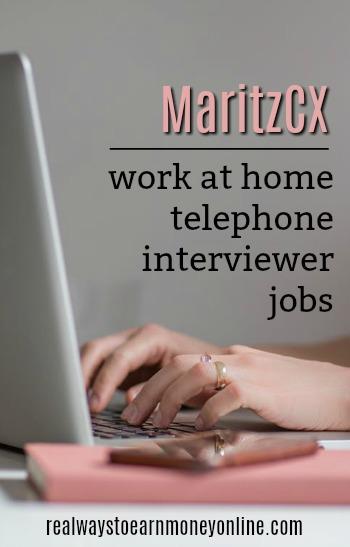 MaritzCX - work at home telephone interviewer jobs.