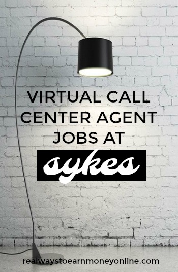 Work at home phone jobs with Sykes.