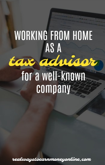 Working from home as a tax advisor for Intuit.