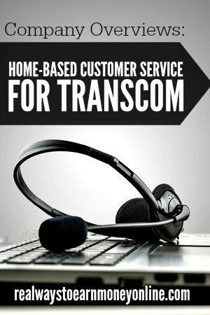 Work at home customer service jobs at Transcom.