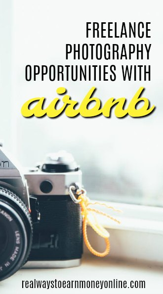 Work as a freelance photographer Airbnb and enjoy a flexible schedule.