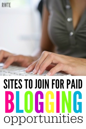 Are you looking for paid blogger opportunities? Here's a list of ten different sites you can join for paid blogging opportunities.