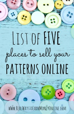 Here's a list of 5 places to sell sewing patterns online to earn part-time income from home.