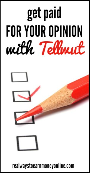 Tellwut review - How to get paid for your opinion answering short polls.