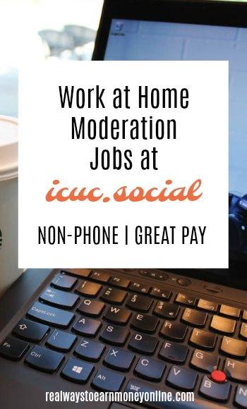 Work at home moderation jobs at icuc.social.