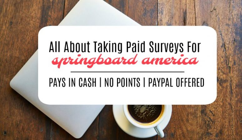 Springboard America Survey Panel Review – [Still Pays In Cash!]