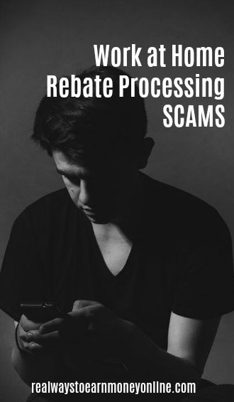 work from home rebate processing scams