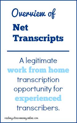 Become a Transcriptionist For Net Transcripts