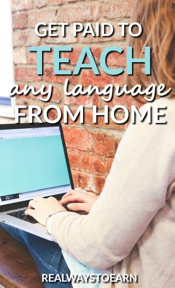 Get paid to work at home and teach any language for iTalki.