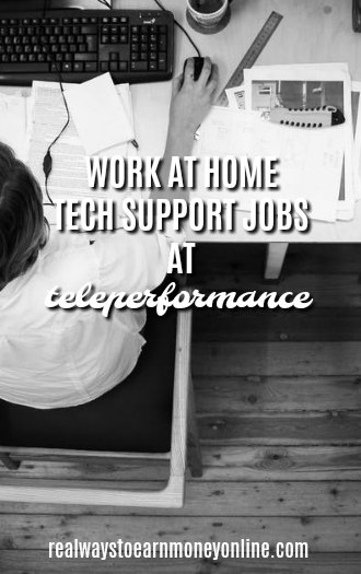 Work at home tech support jobs with Teleperformance.