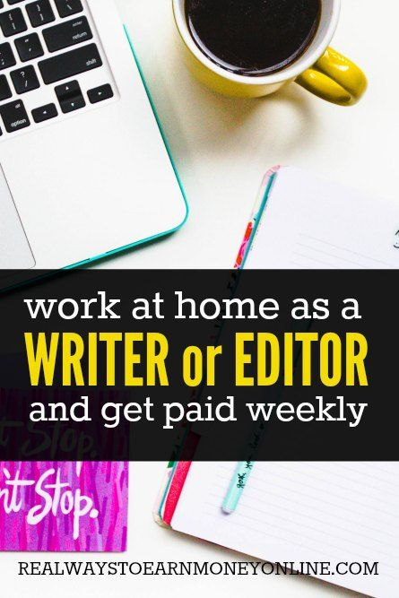 A company that hires writers and editors to work on simple articles. Pays every week.
