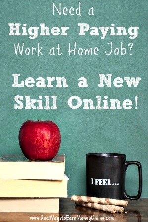List of cheap online courses for better paying work at home jobs.