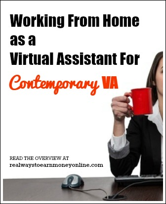 working at home as a virtual assistant for contemporary va