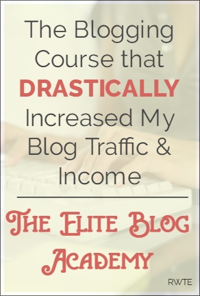 Elite Blog Academy review - This course changed my blogging life! I'm now getting over a half million page views per month and my blog earnings have risen substantially, too. In this course, Ruth shares her top secret Pinterest and Facebook marketing plans. It's made all the difference for me, and could for you, too.