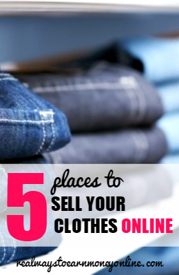 Do you have a lot of used clothes cluttering up your home? Here's a list of five websites you can use to start selling them online for some extra cash!