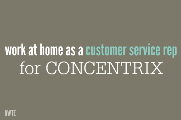 Getting Work at Home Jobs Through Concentrix
