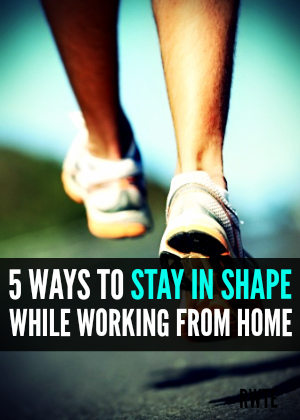 Staying in shape when you work from home can be challenging for a few different reasons. Here are some tips to help you stay in shape when you work from home.